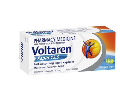 VOLTAREN RAPID LIQUID CAPS 12.5MG 20