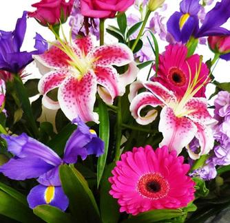 Hot Pink & Purple Bouquet