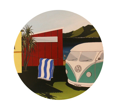 VW Kombi and Bach Wall Art NZ13