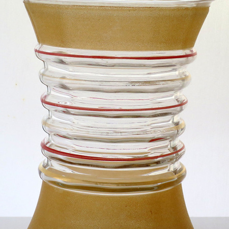 Waisted vase with frosting trim