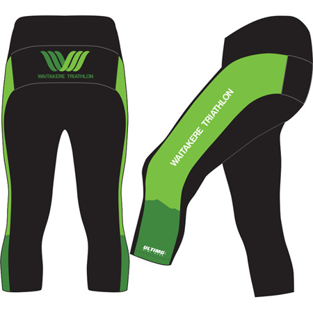 Waitakere Tri Club 3/4 Cycle Shorts