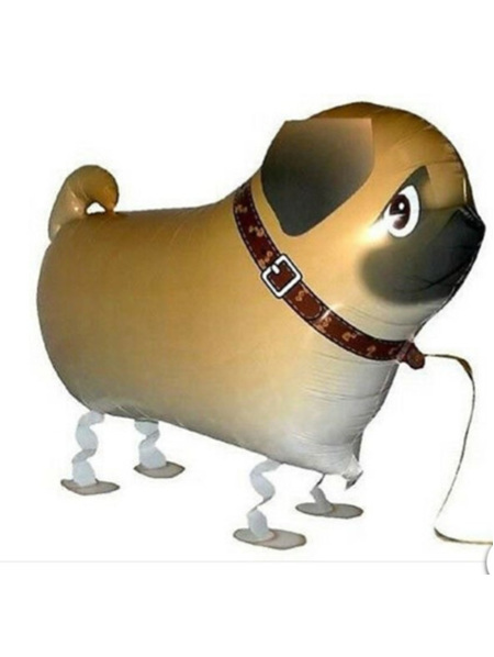 Walking Pet Balloon - Pug Dog