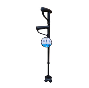 Walking Stick Adjustable with 2 handles with torch 72 - 94cm