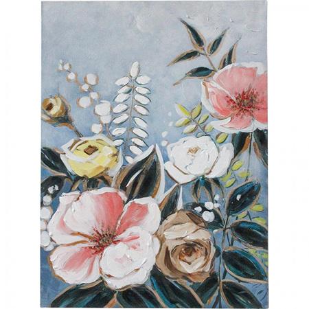 WALL ART DECORATIVE FLOWERS 55X77cm