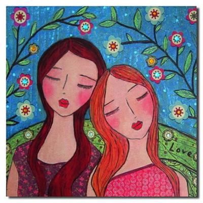 Wall Art Print - Two Girls