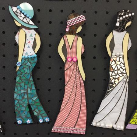 Wall Hanging Mosaic Fashion Ladies