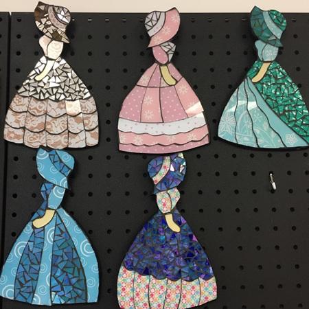 Wall Hanging Mosaic Vintage Ladies