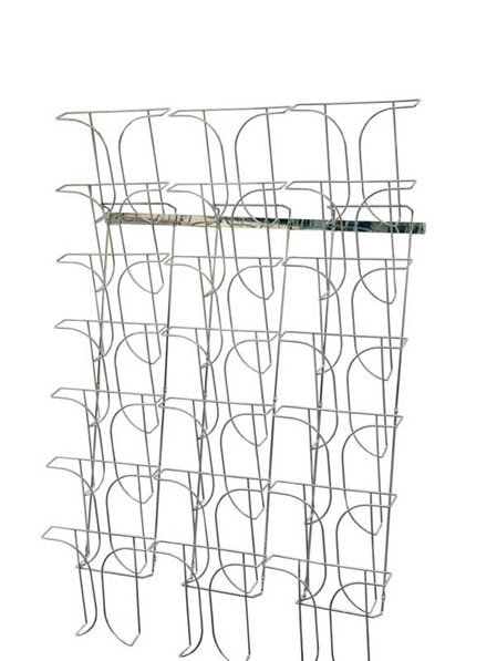 Wall Mounted Wire Magazine Rack 21 x A4 78945 Brochure Racks