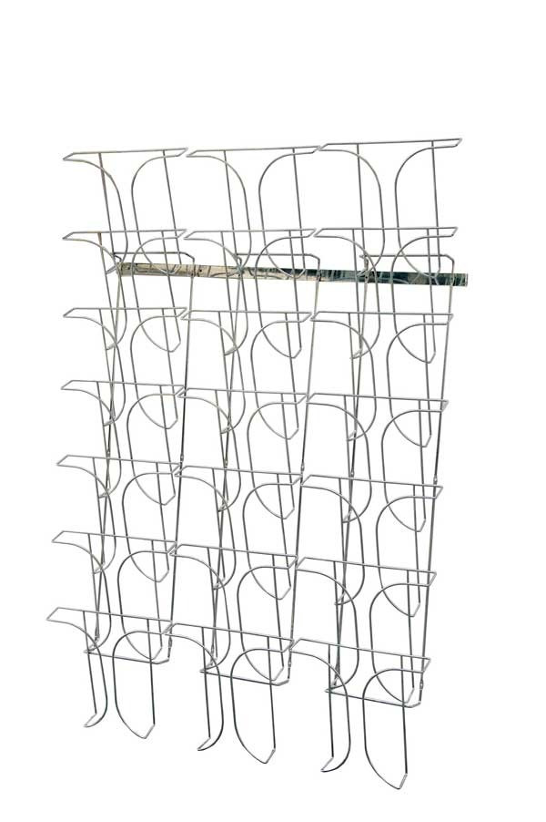 Wall Mounted Wire Magazine Rack 21 x A4 78945 Brochure Racks
