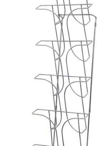 Wall mounted wire magazine rack, 7 tier A4 78645 brochure racks