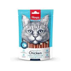 Wanpy Cat - Chicken Jerky and Codfish Sandwiches