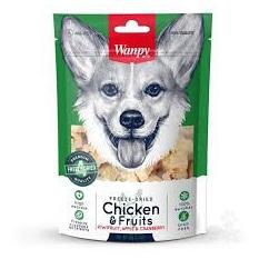 Wanpy Dog Freeze Dried - Chicken & Fruits