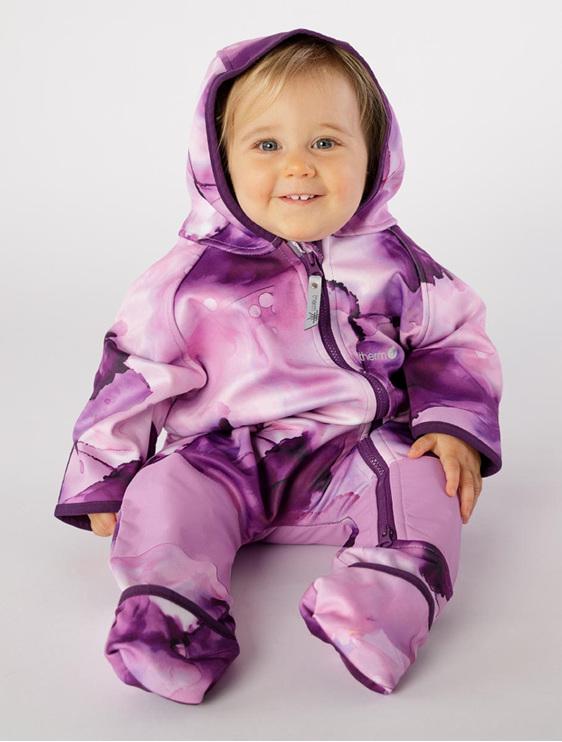 warm baby onesie for adventures nz hiking