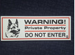 Warning Private Property