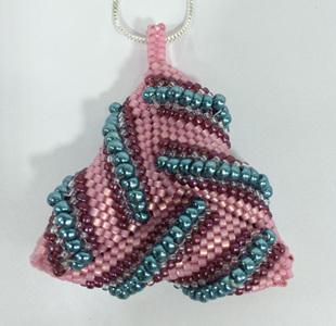 Warped Triangle - Pink & Aqua