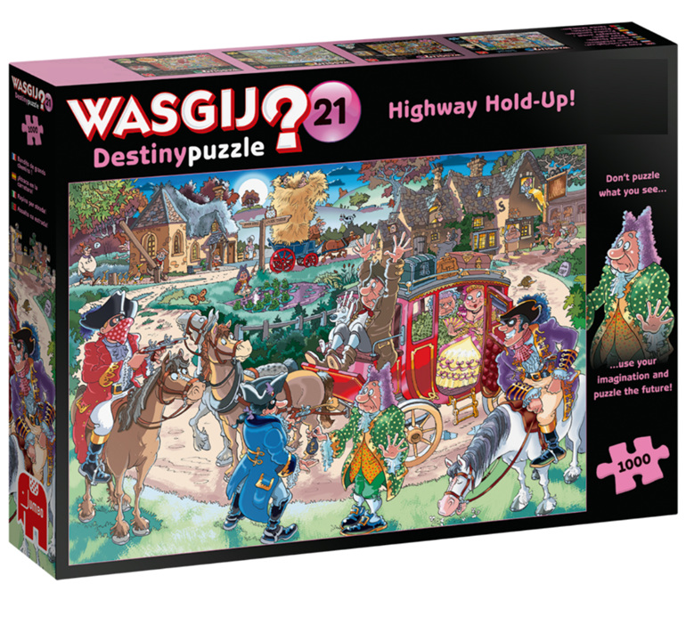 Wasgij Destiny 21 1000pc  puzzle Highway Hold-Up buy at www.puzzlesnz.co.nz