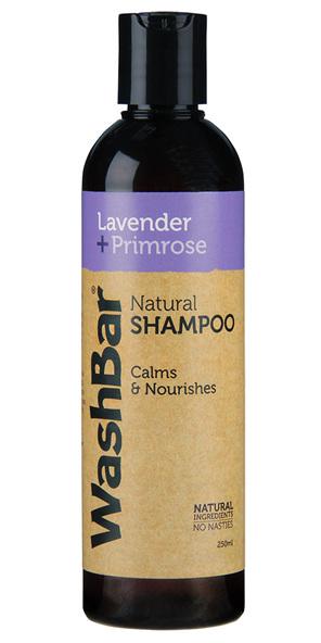 WashBar Natural Shampoo Lavendar + Primrose 250ml