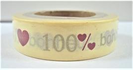 Washi Tape - 100% Bonheur (Happiness)