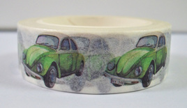 Washi Tape - 1950s / 1960s Retro Cars