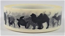Washi Tape - Animals on White Background