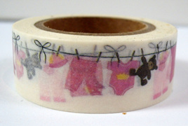 Washi Tape - Baby Clothes on the Washing Line