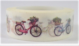 Washi Tape - Bicycle with Basket of Flowers