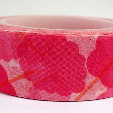Washi Tape - Big Bright Pink Flowers