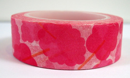 Washi Tape - Big Pink Flowers
