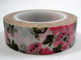 Washi Tape - Big Pink & White Flowers