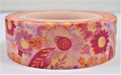 Washi Tape - Big Pink, Yellow & Orange Flowers