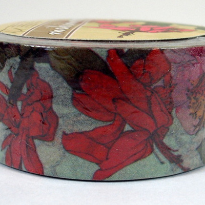 Washi Tape - Big Red Flowers