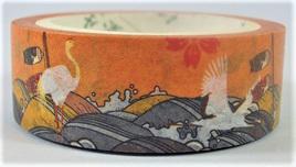 Washi Tape - Birds on Japanese-Style Background