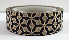 Washi Tape - Black & Beige Pacifica-Style Pattern