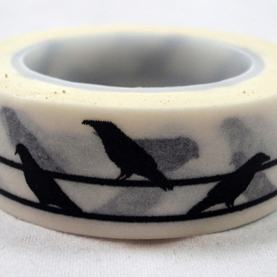 Washi Tape - Black Birds on a Wire