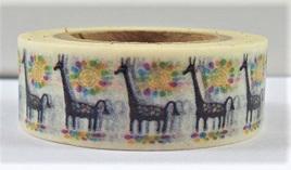 Washi Tape - Black Giraffes