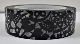 Washi Tape - Black Lace Pattern