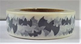 Washi Tape - Black & White Bats