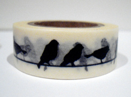 Washi Tape - Black & White Birds on a Wire: Style A