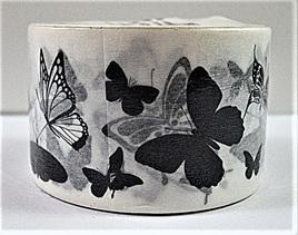 Washi Tape - Black & White Butterflies