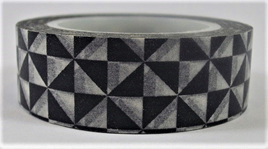 Washi Tape - Black & White Geometric Pattern