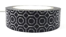 Washi Tape - Black & White Honeycomb Pattern