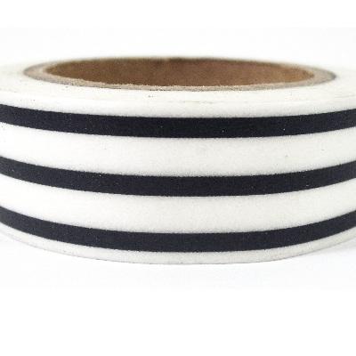 Washi Tape - Black & White Licorice Stripes