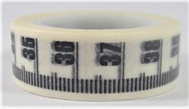 Washi Tape - Black & White Measuring Tape Pattern: Style B
