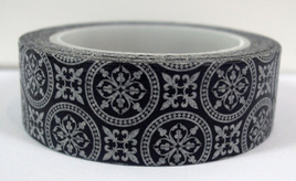 Washi Tape - Black & White Moorish Pattern