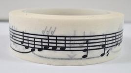 Washi Tape - Black & White Musical Notes