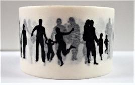 Washi Tape - Black & White People Silhouettes