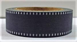 Washi Tape - Black & White Saddlestitch Pattern
