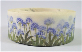 Washi Tape - Blue Flowers and Grass