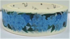 Washi Tape - Blue Hydrangeas