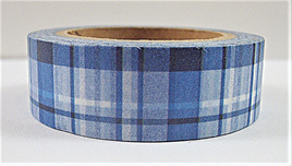 Washi Tape - Blue Plaid Pattern
